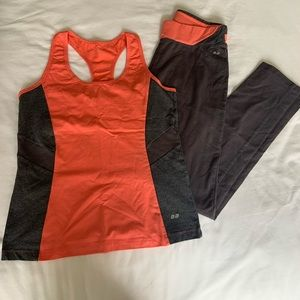 Large BB Work Out Outfit Orange/Grey